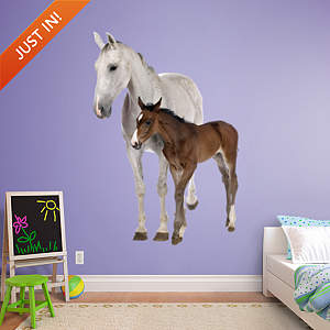 Mare & Foal Fathead Wall Decal